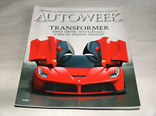 Autoweek June 2014 Car Truck Magazine Transformer La Ferrari Ultimate Supercar