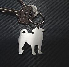 PUG dog breed breeder Pug Love Keyring Keychain Key Stainless Steel