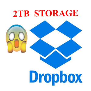 2TB Dropbox Account Cloud Storage account