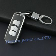 Silver Key Chain W/ Clasp Suit Cover For Mazda 2 3 6 CX-3 CX-5 CX-9 Toyota Yaris