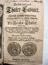 Vollständiges Thaler-Cabinet - 1747