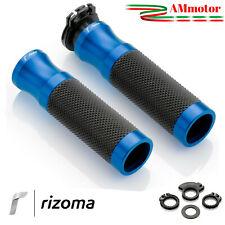 Manopole Rizoma Honda Integra 700 750 Moto Sport Coppia Blu Alluminio Gomma