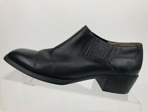 ARIAT Black Leather Gore Stretch Riding Walking Casual Ankle Bootie Women's US 9