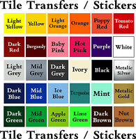 """Tile Stickers / Transfers 6""""x6"""" 150x150  for bathroom/ toilet or kitchen"""