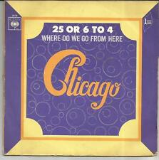 CHICAGO 25 or 6 to 4 FRENCH SINGLE CBS 1970