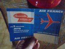 """Air France : Dépliant époque Caravelle """" Votre Projet de Voyage """""""