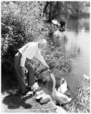 W.C. FIELDS great 8x10 Paramount still feeding ducks -- b727