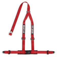 2x Sparco CLUBMAN Cinturón Tirantes de arnés h-gurte Rojo 3 Punto