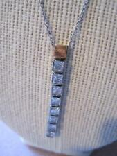 CHOICE by CHIMENTO NWT Italy 2.8 ctw CZ 18 KT Gold Plt SS Necklace Orig $160.00