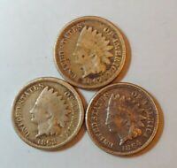 1862-1863-1864 INDIAN HEAD PENNY VERY BEAUTIFUL COINS WWII ERA🔆🔆407