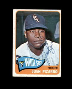 Juan Pizarro Hand Signed 1965 Topps Chicago White Sox Autograph