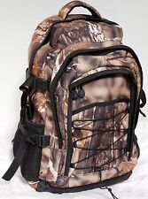 Realtree Style Camo Shooting Hunting Backpack. Padded back + Waterproof Liner