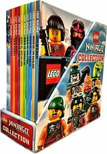 Lego Ninjago Collection 10 Books Box Set -  Minifigure Toy Ninja vs Ghost - NEW