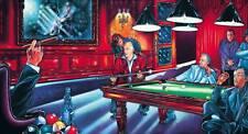 Rare Giclee Linda Pault limited ed 6 prints #1 of 250 series Signed Billard art