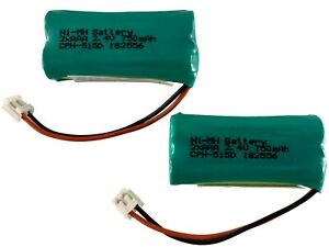 2 Pack CPH-515D Battery for GE 5-2754 5-2826 28871 28871FE2-A 28811 28811FE2-A