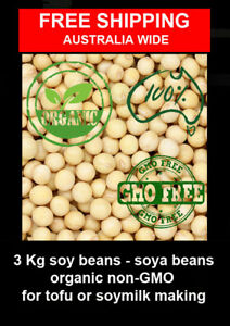 3 Kg organic non-GMO Soy Beans - Soya Beans   for tofu or soy milk making