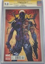 Deadpool vs X-Force #1 RI Variant Signed by Stan Lee Campbell Liefeld CGC 9.8 SS
