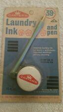 Vintage 1968 Carter's Ink Co. ~ Laundry Marker Ink & Dip-Style Pen ~ Sealed NOS
