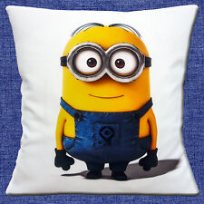 "NEW Minions Character 2 DESPICABLE ME White Yellow Blue 16"" Pillow Cushion Cover"