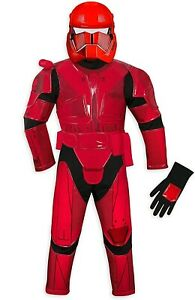 Disney Store Star Wars Red Sith Stormtrooper Boys Costume Set Size 3 Toddler New