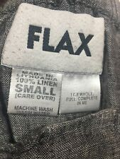 Flax Gray Midi Front Button Linen Skirt Size S