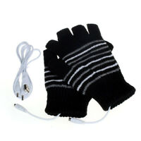 Black Comfort 5V USB Powered Heating Heated Winter Hand Warmer Gloves Washable
