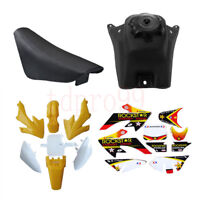 Yellow PLASTIC FAIRING Seat Gas Petrol Tank CRF50 125 SSR Dirt PIT BIKE FENDER