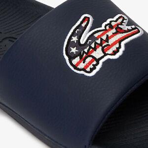 Lacoste Slides Mens Sandals Lacoste Fraisier 118 / Lacoste Croco Slides  NEW