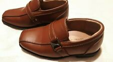 Toddler Boys Dress Shoes-from Perry Ellis-Size 6 Brown Slip Ons-Free Ship!