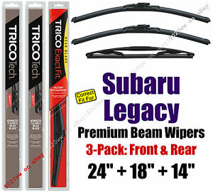 Wipers 3-Pack Premium Front Special Rear 2005-2009 Subaru Legacy 19240/180/14B