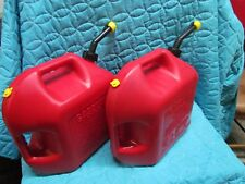 Two Blitz 5 Gallon Gas Cans Vented With Yellow Cap
