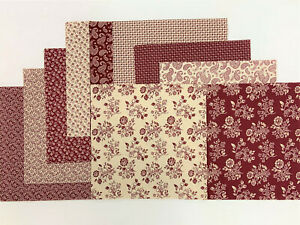 """Country Red Layer Cake 40 -10"""" Squares Quilting & Sewing Fabric"""