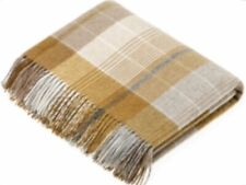 Bronte by Moon Florence Gold Throw 100% Wool British Made