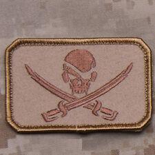 MilSpec Pirate Skull & Swords Desert USA Military Combat Army Morale Patch