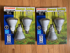 Two - Sylvania Cfl 2700K, Br30 Flood Light, 65w Replacement, 6 Bulbs Total