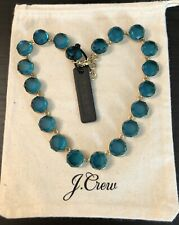 J.Crew Faceted Stone Necklace! Sold Out! New$69.50 Misty Turquoise With Bag!
