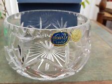 Vintage BOHEMIA Cut Crystal Decorative FRUIT BOWL With Box New