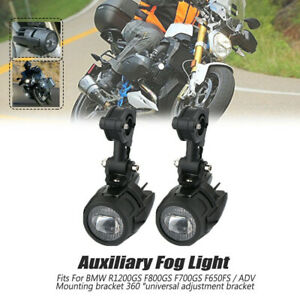 2Pcs Spot LED Auxiliary Fog Light Safety Driving Lamp Motorcycle for BMW R1200GS