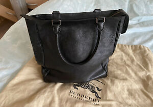 Burberry Womens Large Black Handbag With Dustbag