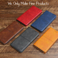 Leather Wallet Magnetic Adsorption Case Cover for iPhone And Samsung