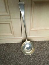 More details for heavy solid silver antique ladle 200yrs old