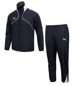 Puma Men Foundation BTS Training Suit Set Navy Jacket Pants GYM Jersey 65225206