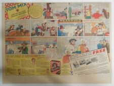 """Ralston Cereal Ad: Tom Mix """"4 Action Photos"""" Premium 1934 Size: 11 x 15 inches"""