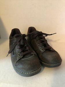 Sketchers Womens Brown Leather Lace Up Oxford Sneakers with Zipper #46406 US 8