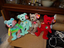 FOUR MINT BEANIE BABIES 1999 SIGNITURE-PEACE-OSITO AND ARIEL