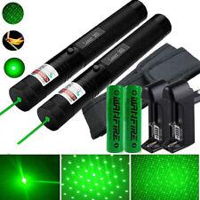 2X 10miles 532nm Grün Hightech Laserpointer /Extrem Stark +Ladegerät+Akku Kit