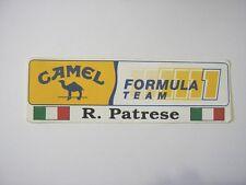 ADESIVO AUTO F1 anni '80 / Old Sticker CAMEL BENETTON PATRESE (cm 15 x 5)