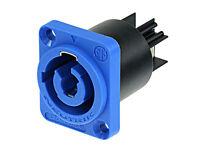 Genuine NEUTRIK NAC3MPA-1 Powercon Receptacle Power In (Blue)