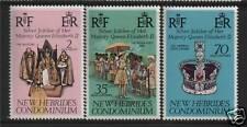 New Hebrides 1977 Silver Jubilee SG 217/9 MNH