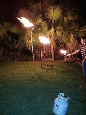 "New DIY Complete 3pk 80"" Tall Portable Propane Tiki Torches; Torch72B4BCK-3PK"